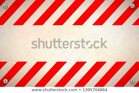 Czerwony biały szablon metal Zdjęcia stock © evgeny89