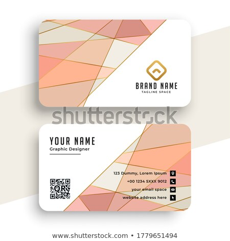 elegant pastel color low poly business card design Stock photo © SArts