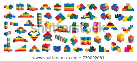 Veelkleurig speelgoed houten speelgoed blokken textuur Stockfoto © goir