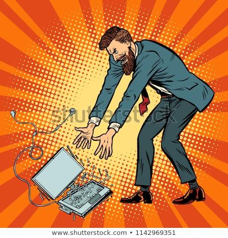 Man About To Smash Laptop Stock fotó © studiostoks