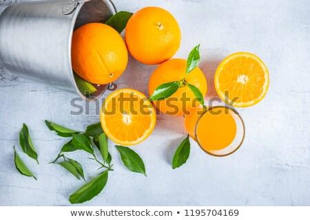 新鮮な オレンジジュース 2 フルーツ 木製のテーブル 木材 ストックフォト © elly_l