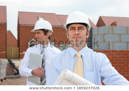 peinzend · timmerman · man · hout · bouw · ruimte - stockfoto © photography33