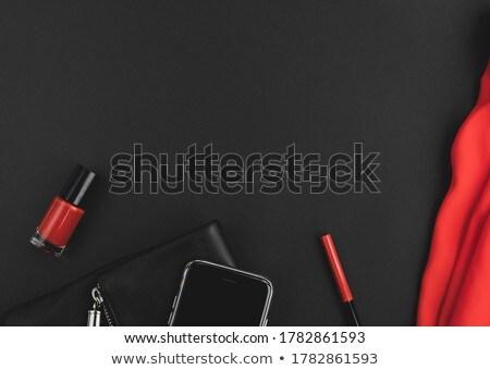 Modieus donkere blouse ontspannen dag Stockfoto © RuslanOmega