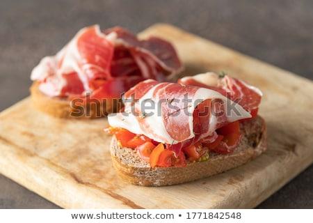 Prosciutto toast tipico Spagna alimentare carne Foto d'archivio © jarp17
