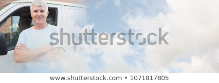 Mature courier man with arms crossed Stock photo © wavebreak_media