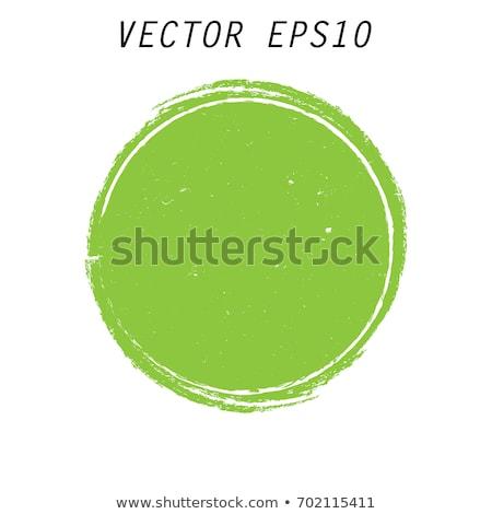 Foto stock: Verde · círculo · decoração · sem · costura · abstrato · tecido