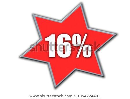 Gwiazdki biały 16 star czerwony kolor Zdjęcia stock © LianeM