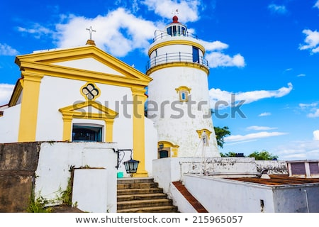The Guia Fortress white tower in Macau Stock photo © kawing921