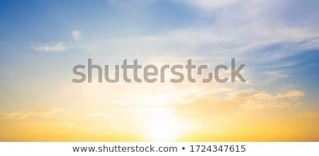 Sunset orange sky background at evening Stock photo © lunamarina