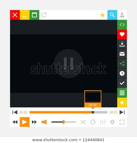 синий Бар СМИ иконки вектора веб-иконы Сток-фото © SergeyT