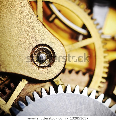 Watch gears very close up stock photo © Nneirda