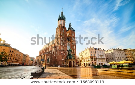 St. Mary's church in Krakow stock photo © pab_map