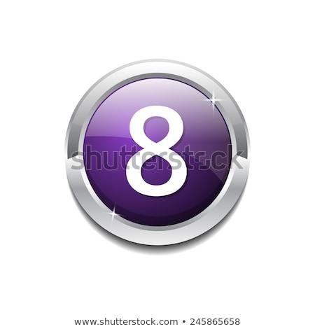 Szám körkörös vektor lila webes ikon gomb Stock fotó © rizwanali3d
