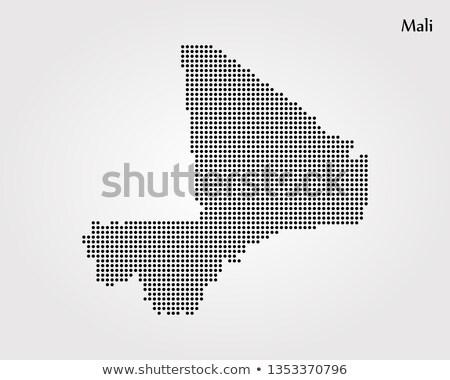 карта Мали точка шаблон вектора изображение Сток-фото © Istanbul2009