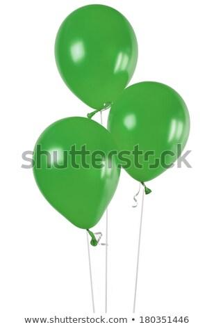 Trois vert ballons isolé blanche illustration Photo stock © smeagorl