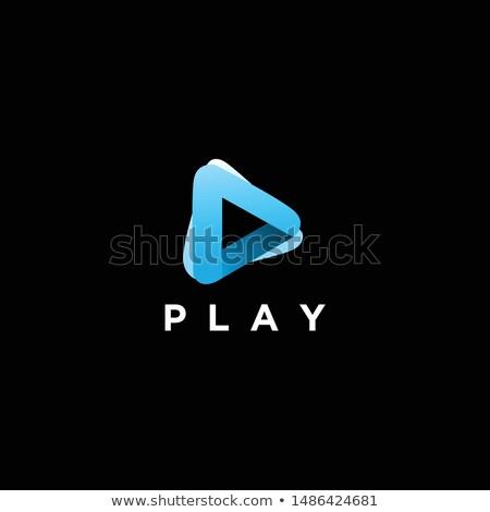 abstract vector play logotype stock photo © netkov1