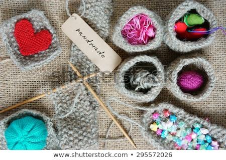 Handmade Knit Knitting Art Hobby Lovely Creatve Foto stock © xuanhuongho