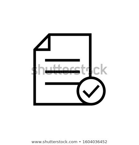 Approvato testo illustrazione isolato design sfondo Foto d'archivio © get4net