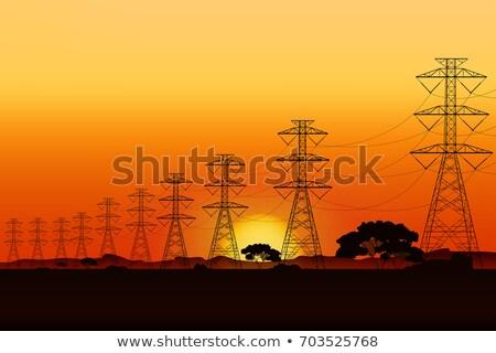 voltage electric pole stock photo © oleksandro