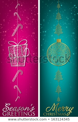 Formal Christmas filigree banners in vector format. Stock photo © piccola