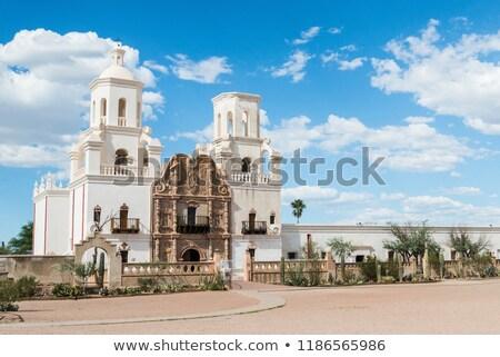 misyon · Arizona · ABD · kilise · mimari · din - stok fotoğraf © meinzahn