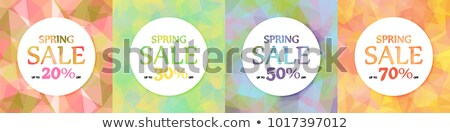 bahar · satış · dizayn · güzel · renkli · çiçek · vektör - stok fotoğraf © tefi