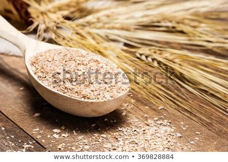 tarwe · zemelen · kommen · tabel · voedsel · hout - stockfoto © tycoon