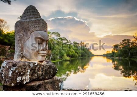 angkor · pormenor · parede · alívio · um · templo - foto stock © tito