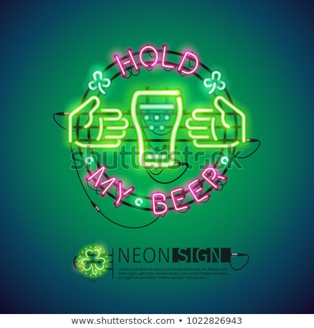 Hold My Beer Neon Sign Colorful Stock photo © Voysla