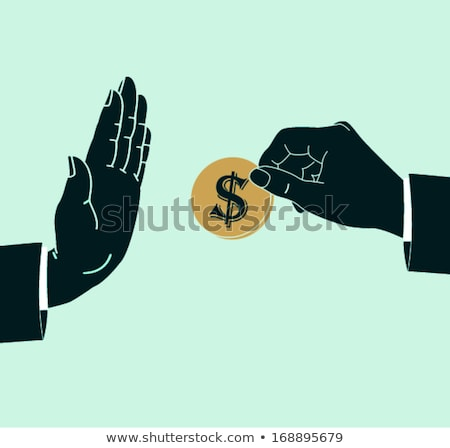 close up of a persons hand refusing bribe stock photo © andreypopov