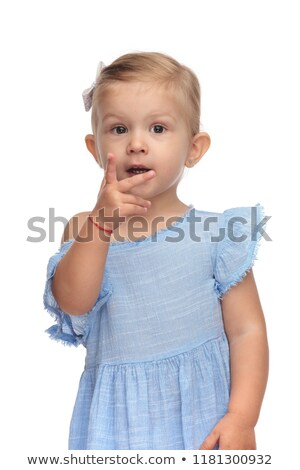 beautiful little girl shows you that she can count  Stock photo © feedough