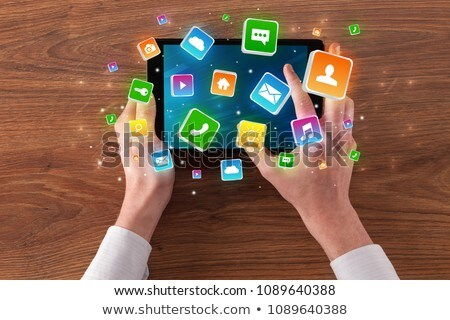 компьютер · таблетка · приложение · бизнеса · интернет - Сток-фото © ra2studio