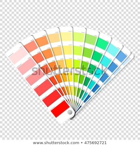 色 パレット ガイド 木材 レトロな ストックフォト © neirfy