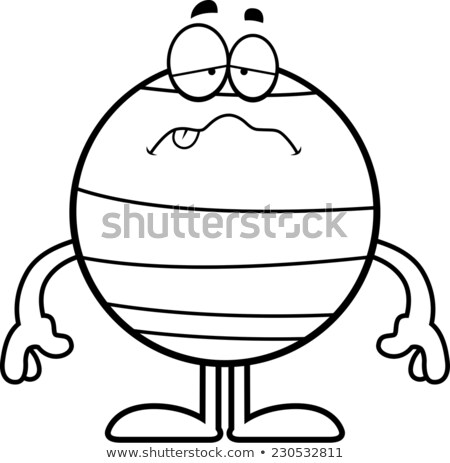 Sick Cartoon Neptune Stock photo © cthoman