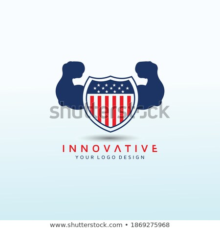 American Physical Fitness USA Flag Icon Stock photo © patrimonio