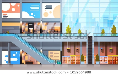 Supermarket Stores, Empty Shop Departments   Vector Stock photo © robuart