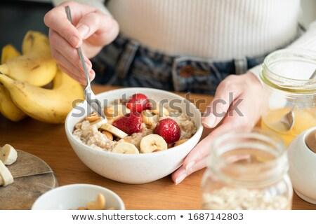 フルーツ · 穀物 · ボウル · 具体的な · フィットネス · 通信 - ストックフォト © zoryanchik