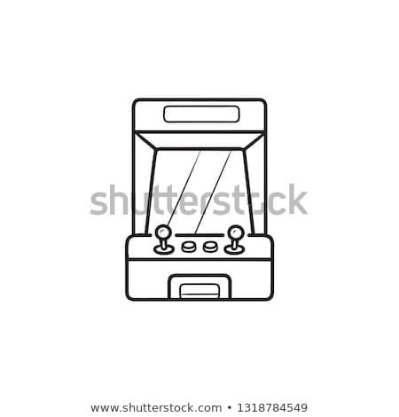 Játék üzenet kézzel rajzolt skicc firka ikon Stock fotó © RAStudio