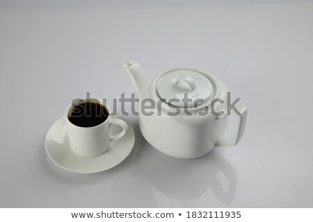 White Ceramic Breakfast Cup in the Room Stock photo © make