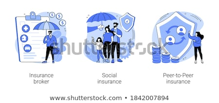 Peer-to-Peer insurance concept vector illustration. Stock photo © RAStudio