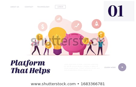 Businesswoman with Golden Coin, Idea Light Bulb Stock photo © robuart
