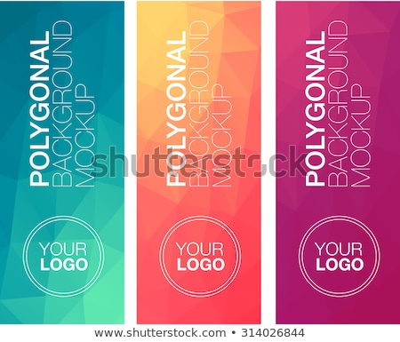 abstract low poly triangle colors banners set Stock photo © SArts