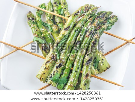 Grilled asparagus rafts with sesame seeds Stock photo © Alex9500