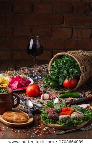 Traditional Georgian khachapuri Stock photo © boggy