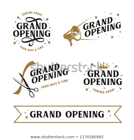 grand opening invitation flyer design Stock photo © SArts