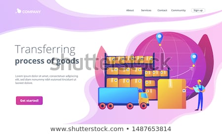 Transit warehouse concept landing page Stock photo © RAStudio