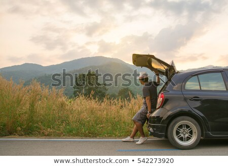 Young Man Traveling by Car Stock photo © robuart