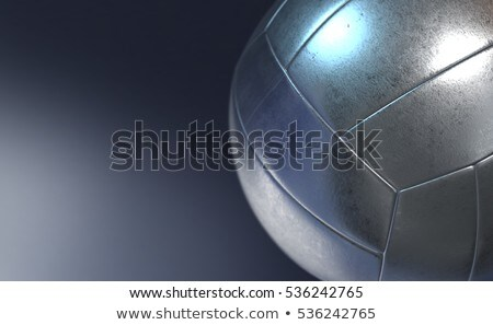 Stock photo: metallic volleyball
