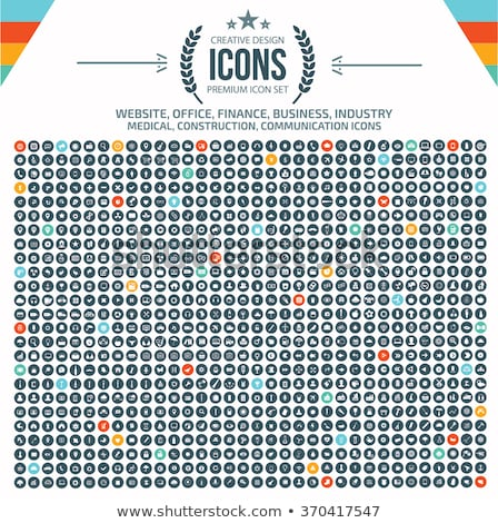 Factory Industrial Collection Icons Set Vector Stock photo © pikepicture