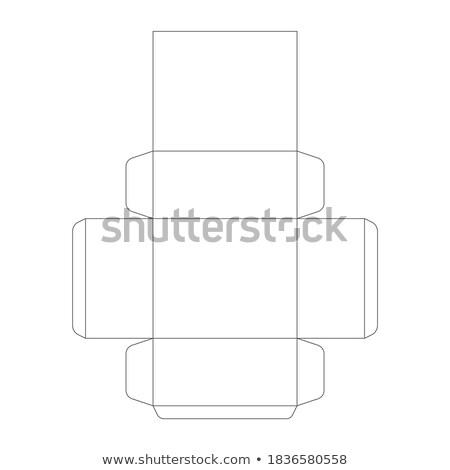 Papieru polu szablon pryzmat biały Zdjęcia stock © evgeny89